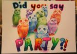 Party owls by Pinjachi