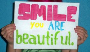 Smile, You Are Beautiful. by diabolicalbanana