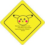 Pikachu traffic sign by AevumAngel