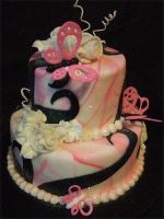 Pink Swirl Cake by jwitchy65