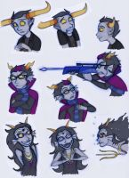 Homestuck Characters: Tavros, Eridan and Feferi by Expression
