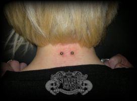 Neck surface by state-of-art-tattoo