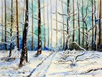 Winter in the forest by Lord-Makro