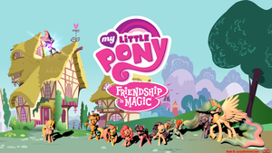My Little Pony FIM 3D Wallpaper by jayjaybirdsnest