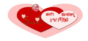 Happy Valentines to Friends by mysticmorning