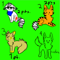Cat Adoptables! (OPEN) by H3ARTOFTHEOCEAN