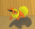Dusty growling and leaping by GoldFlareon