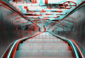 Escalator_Anaglyph by vrupatel