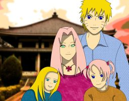 Family Uzumaki at the Temple by MimiSempai