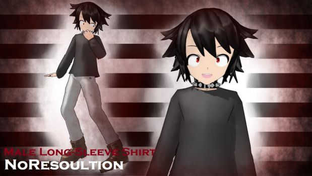 Male Long-Sleeve Shirt by NoResoultion