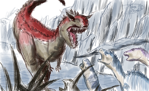 Sketch- vs Carnotaurus by Weirda208