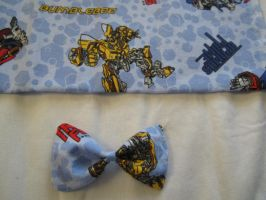 Blue Transformers Hair Bow by colbyjackchz