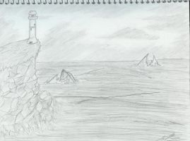 Devils LightHouse by JTDrawingDragon