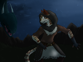 A quiet night in Skyrim by Spottedfire-cat