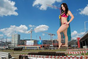 Giantess Katelyn Brooks In Zurich by jjuenger
