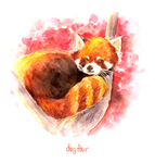 four. red panda by everfae