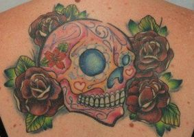 Sugar Skull Back Piece pt3 by Bubblybec83