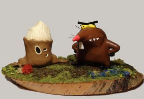Angry Beaver Dag and Stump by friendlyMiststueck