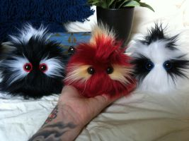 Mohawk Poof Monsters by EyepatchNinja