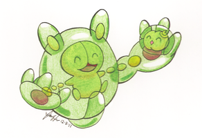 Reuniclus and Solosis by MidniteSilven