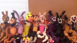 All Rainbow Loom FNaF Characters (NEW) by StormStrikeElectric