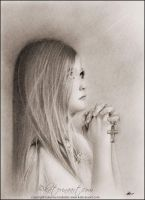 A child's prayer by Katerina-Art