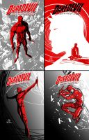 DareDevil digital thumbnail sketches by JoeyVazquez