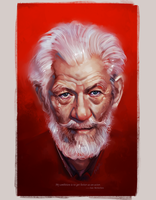 Ian McKellen by superschool48
