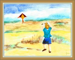 Kite-flying in the Dunes by fmr0