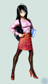 Office Lady Adult Skuld by EastCoastCanuck