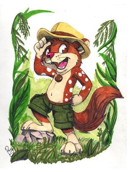 Furrhan Blackwood the quoll by pandapaco