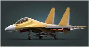 Su-30MK2 Model Render by Siregar3D