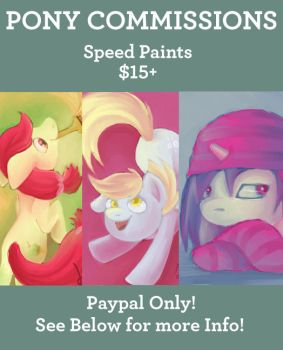Pony Commissions! by LilyPaints