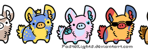 [ adopt set : bunnypigglets ] {4/4 SOLD} by PastelLights