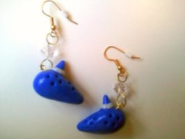 Ocarina Earrings Fimo by Various-Aliter