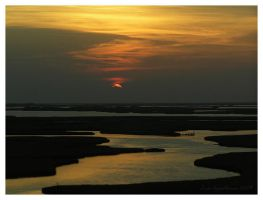 Saltmarsh Sunset by Cillana