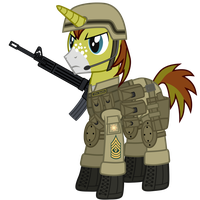 First Sergeant Allen Sparkle by DolphinFox