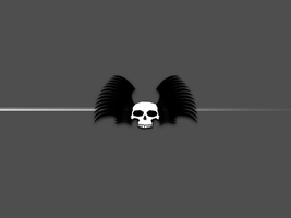 Winged Skull background by maddog1138