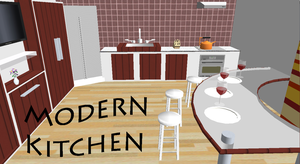 [MMD] Modern Kitchen DL by OniMau619