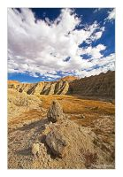 Lone Rock in the Badlands by Julian-Bunker