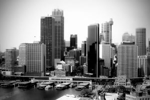 Sydney Skyline by cazzaritch