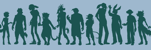 Character Silhouettes by skurvies