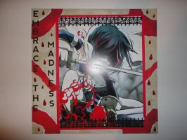 Embrace Madness anime 12 x 12 scrapbook page by butterflypromqueen