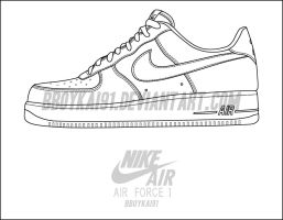 Nike Air Force 1 Low Template by BBoyKai91