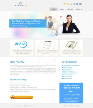Website - institute website lauout by fahd4007