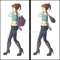 2 Same Girl with different bags by Azumi212