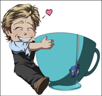 Chibi - Patrick Jane and his cup of tea by InvisibleRainArt