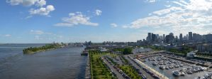 Montreal's old port panorama by abxe