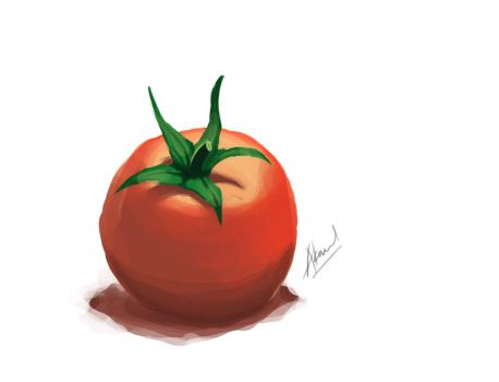 Speed Painting 3: Tomato by akmal656