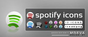 Alternative Spotify icons by PassionisArt